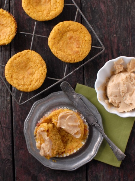 pumpkin cornbread muffins & whipped honey-maple cinnamon butter (with gluten-free option) click here for recipe