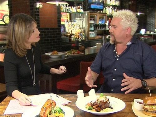 "Guy Fieri on critic: 'He came in with a different agenda' (Photo: TODAY) Guy Fieri bit back at the New York Times restaurant critic who assailed his eatery, accusing him of having an ""agenda."" ""I thought it was ridiculous, that to me was so overboard,"" Fieri told TODAY's Savannah Guthrie in his first interview since the controversy. Read the complete story."