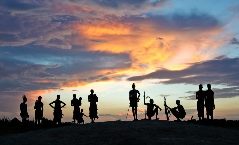 Photo of the Day: People from the Hamer Tribe Watching the Sunset, Lower Omo Valley, Ethiopia. Photo by: Dimitra Stasinopoulou (Glyfada, Greece); Lower Omo Valley, Ethiopia.