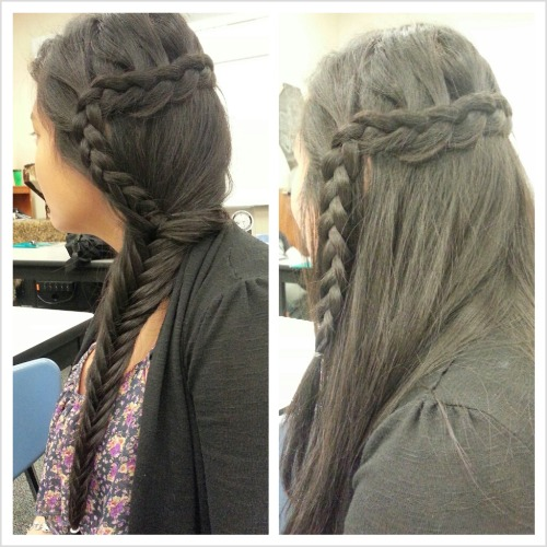 3 strand & Fish tail braid.