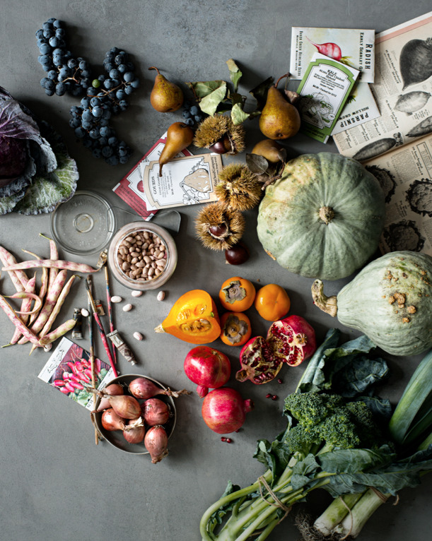 In the December issue Town & Country captures the best produce, crumbly cheeses, fragrant cured meats, and flaky desserts for the holiday season. Photograph by Ditte Isager