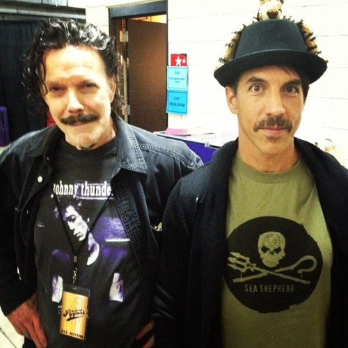 Father and SonNew photo of Blackie Dammett and Anthony Kiedis in Portland! Published 14 hours ago by David Mushegain.