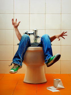 "TOP THIS: ""Falling down the toilet"" - Bathroom Blunders #1.  This morning I had my phone in the room when I got out of the shower.  I got an impromptu call as I am stood wrapped in towel.  I sat down on the toilet with the lid down, standard.  It shattered into about 15 pieces beneath me.  I feel into the toilet!  Yes, it seems I may be the male Bridget Jones but in a Top 10 of Bathroom Blunders, I own that #1 spot.  Unless you can top that? Submit your stories at #Chartistry."