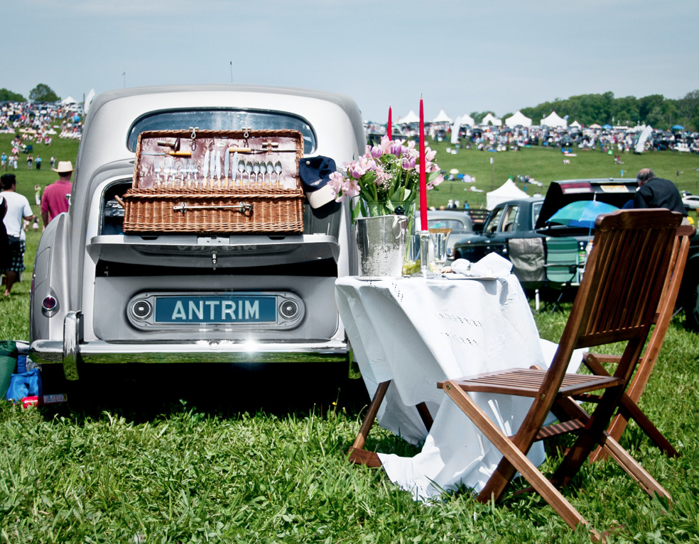 How tailgating is done at Winterthur Point-to-Point in Town & Country December.