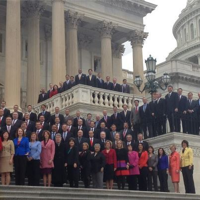 Can you find congressman-elect Hakeem Jeffries in this photo?