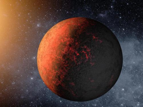 Artist's Concept of Kepler-20e  NASA's Kepler mission has discovered the first Earth-size planets orbiting a sun-like star outside our solar system. The planets, called Kepler-20e and Kepler-20f, are too close to their star to be in the so-called habitable zone where liquid water could exist on a planet's surface, but they are the smallest exoplanets ever confirmed around a star like our sun.  Kepler-20e is the first planet smaller than the Earth discovered to orbit a star other than the sun. A year on Kepler-20e only lasts 6 days, as it is much closer to its host star than the Earth is to the sun. The temperature at the surface of the planet, around 1400 degrees Fahrenheit, is much too hot to support life, as we know it.  Kepler-20e is likely to be entirely rocky and without an atmosphere. The planet is tidally locked, always showing the same side to its host star, as the moon to the Earth, and could have large temperature differences between its permanent night and day sides.