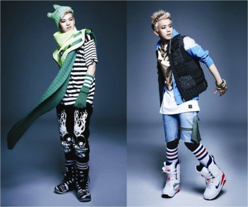 "B.A.P's Zelo receives attention for his impressive growth spurt  Zelo's Twitter: ""I measured my height. 184…hehe"" Youngjae's Response: ""Don't do this… ㅠ You have to think of your hyungs too."""