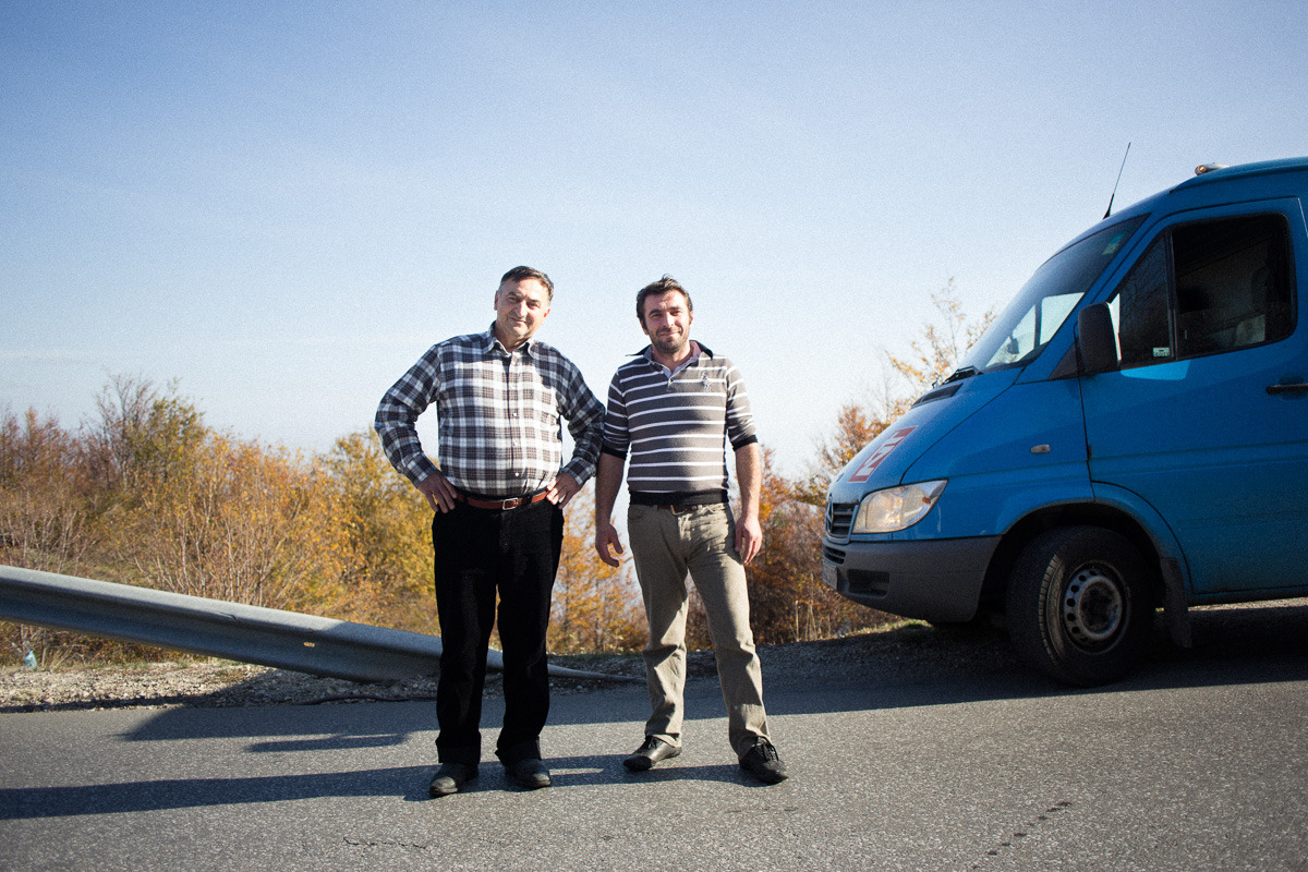 "Haris & Zekaj (father & son) // November 13th 2012 // Drove me from Podgorica, Macedonia to Pejë, Kosovo.  More? ☞ #Portraitsfromtheroad and #OsloBeirut on ""Angles"""