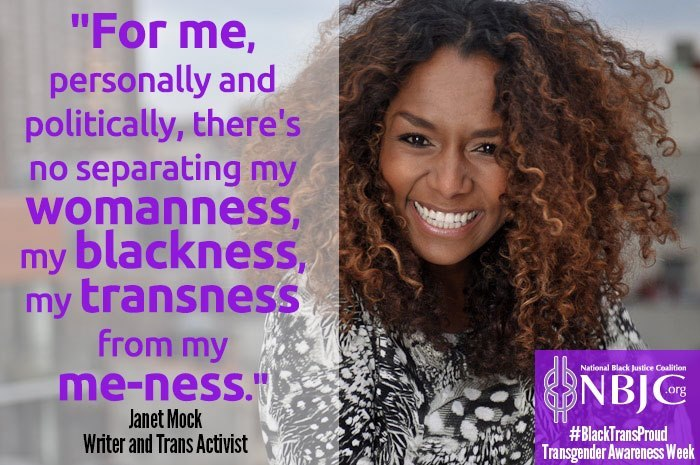 Writer and trans activist Janet Mock tells NBJC why she's proud to be Black and trans! For Transgender Awareness Week, tweet your photos and testimonials @NBJContheMove with the hash tag #BlackTransProud. Or post them on our Facebook page.