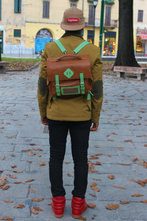 fusionkelvar:  FSNKLVR Leather Backpack Photo by stefano carloni