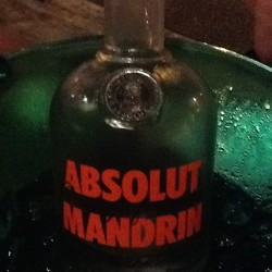 Having a pretty good night with this #vodka #absolut