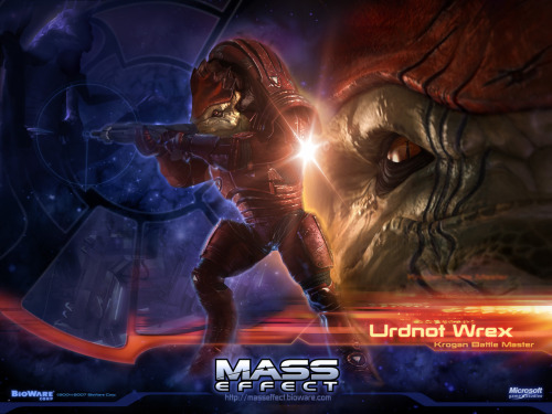 codespace:  Mass Effect 30 Day Challenge Day 16: Favourite Krogan?  Urdnot Wrex has, arguably, one of the most emotional story arcs in the series. His single-minded push to unite the Krogan as a people and cure the Genophage is incredible, and wonderfully satisfying if you're playing Paragon.