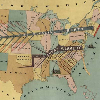 Map: John F. Smith's anti-slavery map (1888) originally posted to the BIG Map Blog.