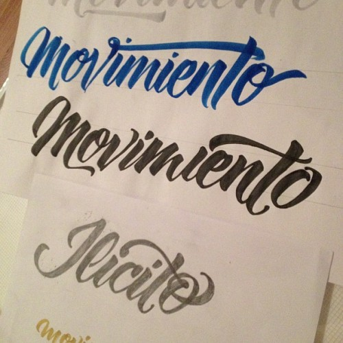 Movimiento #lettering #calligraphy