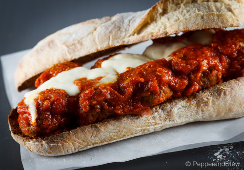 The Mighty Jollof Sauce Meatball Sub Sandwich Recipe:  http://www.pepperandstew.co.uk/?p=1635 #africanfoodmadeeasy