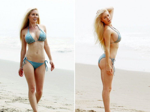 Heidi Montag is quite the beach bunny. The former reality TV star flaunted her curvaceous bikini bod on Wednesday and made waves with beach-goers as she seductively played in the sand.  See all her photos on our site by clicking the image above!