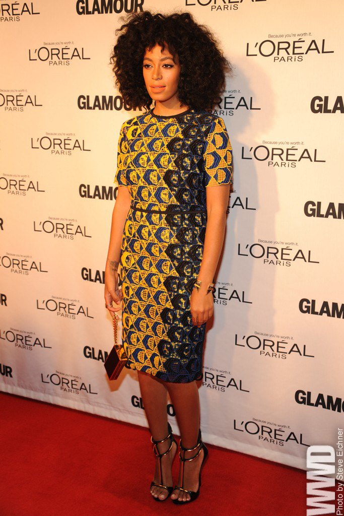 womensweardaily:  Solange Knowles at Glamour's Women of the Year Awards