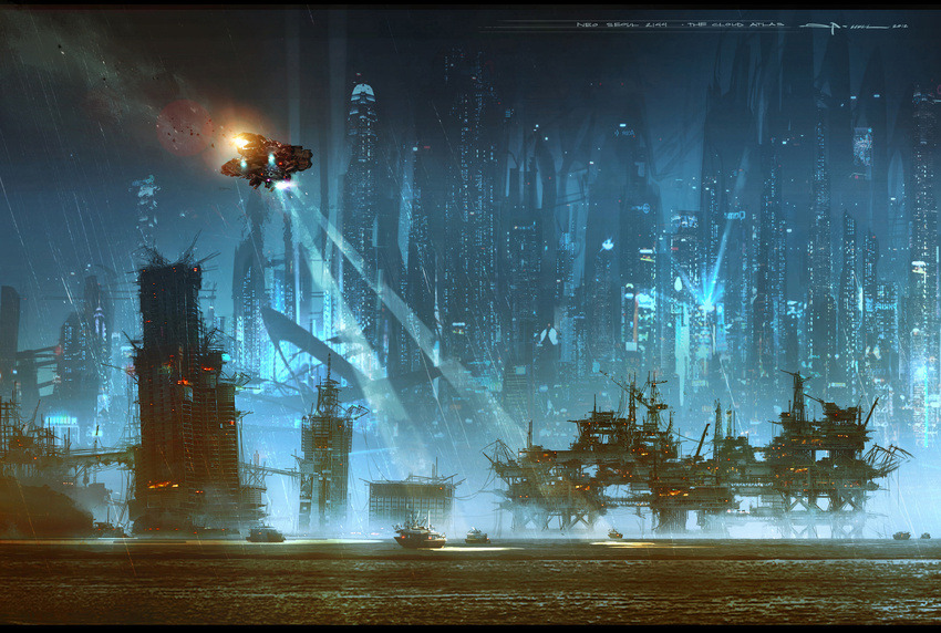 Neo Seoul Cloud Atlas concept art by George Hull