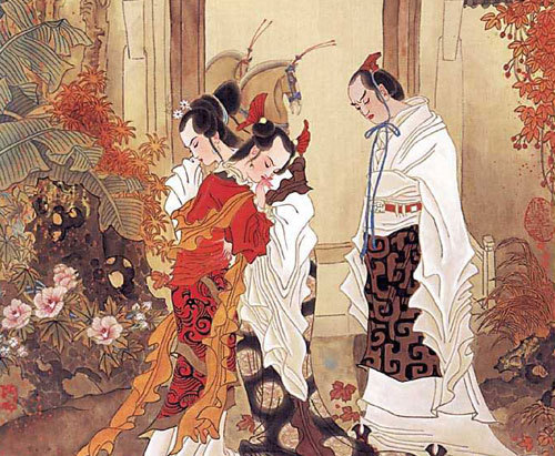 the-next-emperor:  A scene from the classic book 孔雀东南飞.