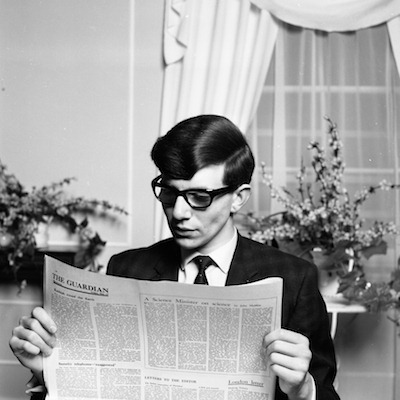awesomepeoplereading:  A young Stephen Hawking reads.