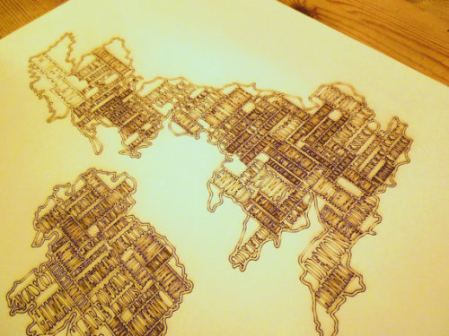 artmaps:  United Kingdom and Ireland Laser Etched Map on Etsy