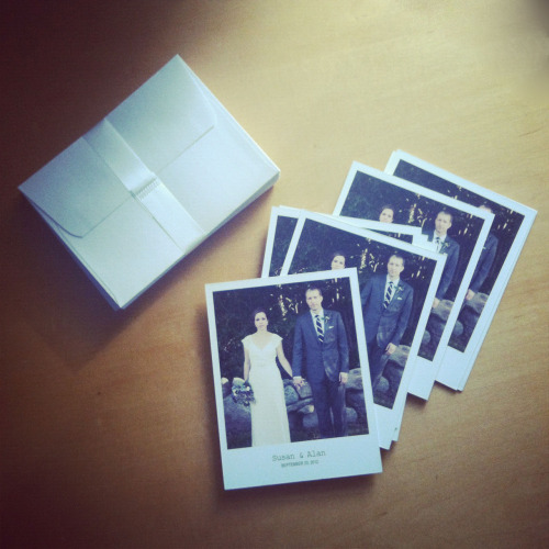 Just got my vintage polaroid style wedding thank you cards in! Love them!