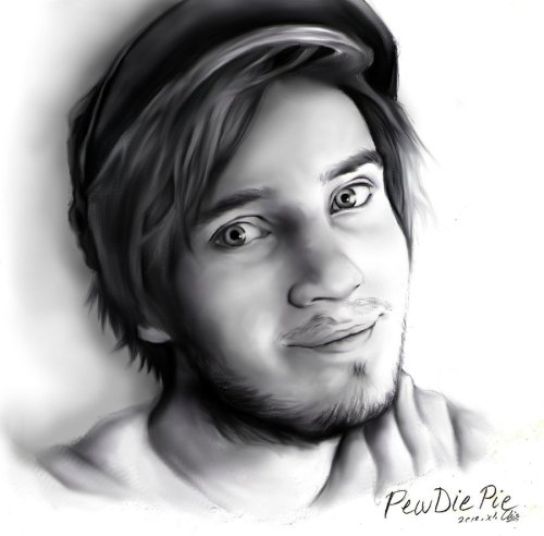 pewdie:  chocolate-derp:  Pewdiepie by ~CherryStarwberry7  This is amazing! Im not worthy! :P