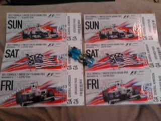 Steff and I are going to the Formula 1 race!   Austin Grand Prix, here we come! Not many F1 fans are lucky enough to have a race come to your hometown and to be able to go to the first one ever!   Ugh, no words. :]