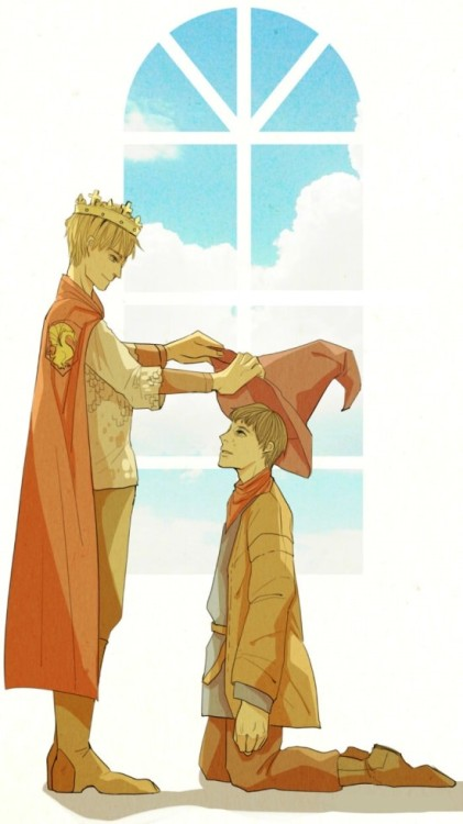 king and merlin by ~lephan