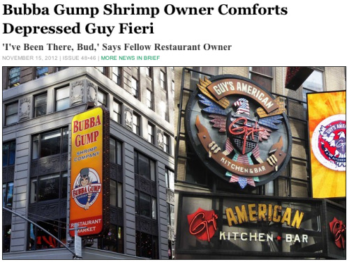Bubba Gump Shrimp Owner Comforts Depressed Guy Fieri: Full Story