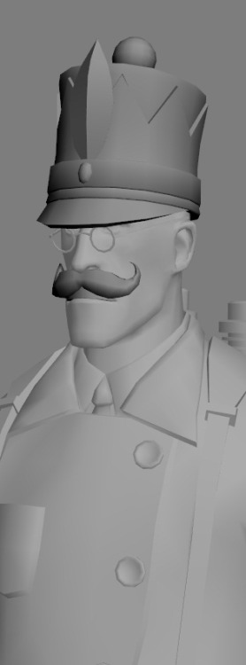Work in progress! Nutcracker Medic, comes with teeth+mustache combo, and a sweet hat to boot.Gonna be all class! Except the teeth might not work too well for Pyro…