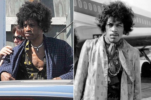 Andre 3000 as Jimi Hendrix in a movie