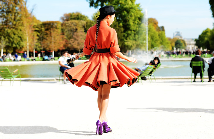 A swirl and a twirl - as captured by our favorite, Tommy Ton.