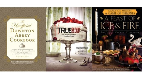 The Unofficial Downton Abbey Cookbook True Blood: Eats, Drinks, and Bites from Bon Temps A Feast of Ice and Fire: The Official Game of Thrones Companion Cookbook Know someone who loves TV and cooking? And cooking while they watch TV? Gift them recipes straight from their favorite series — the Downton Abbey cookbook isn't official, but the True Blood and Game of Thrones ones are — in fact, A Feast of Ice and Fire even features a foreword by George R. R. Martin. (Just make sure your giftee isn't the type who hates ot when ol' Georgie writes anything that isn't The Winds of Winter, okay?)Price: $21.95, $29.95, $35 (all hardcover) Read more: Holiday Gift Guide 2012: Best TV Books