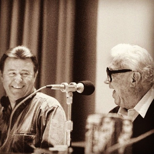 chicagocubs:  Throwback Thursday of the late Ron Santo and Harry Caray from the Cubs official Instagram account.   Miss them both, especially Harry.