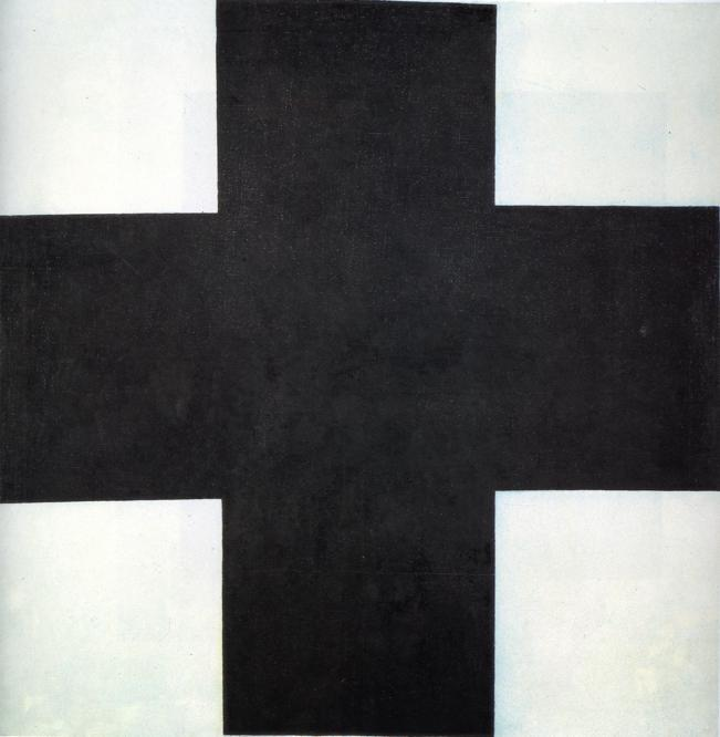 "sublimespy:  Kazimir Malevich Black Cross, 42"" x 42"" (1923)"
