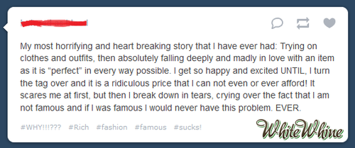 """Crying over the fact that I am not famous…"""