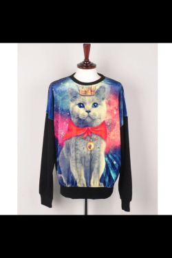 OMFG A PRINCESS KITTY IN SPACE SWEATER, GET IN MY CLOSET PLZ