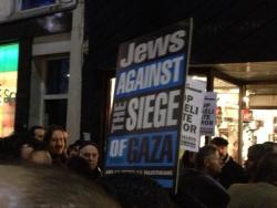 israelfacts:  Jews protesting against the siege of Gaza at a mass demonstration outside the Israeli embassy in London, England, on November 15, 2012. (Photograph via Facebook.)