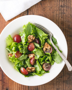 foodopia:  grape and walnut salad with lemon poppy seed dressing: recipe here