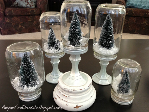 DIY Mason Jar Snowglobe Tutorial