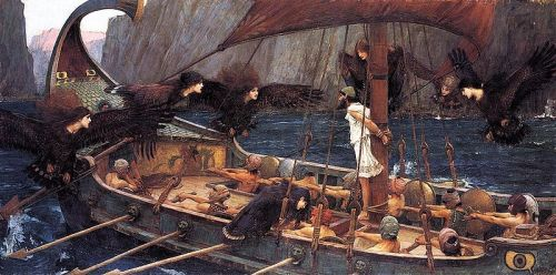 worldofmythology:  Ulysses and the Sirens (1891) John William Waterhouse