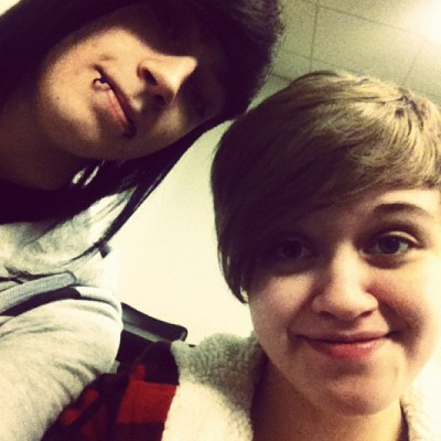Dylan and I in class together (: (at Art Institute of Indianapolis)