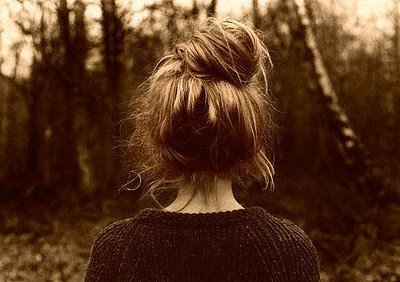 messy hair bun on tumblr