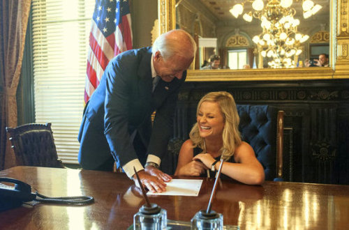 """She's good. Now I know why she's nominated."" -Joe Biden on Amy Poehler"