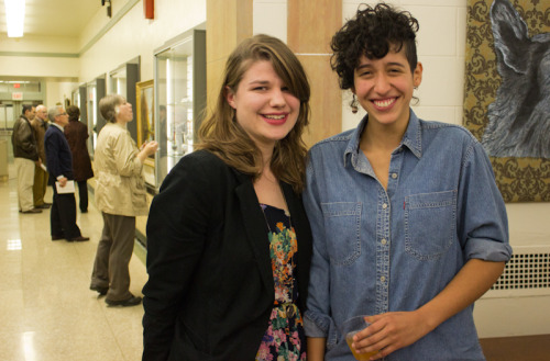 "Senior art majors receive local recognitionKARA M. RUSSELLmanaging editor  Senior art majors Lindsay Pitts (left) and Marcela Pardo pose after last week's 114th Annual Exhibition of Richmond and Area Artists held at Richmond Art Museum on Nov. 8. Both received merit awards for their photography submissions.   Two senior art majors took home cash prizes and local recognition from the Nov. 8 unveiling of Richmond Art Museum's 114th Annual Exhibition of Richmond and Area Artists. Marcela Pardo and Lindsay Pitts were both honored with merit awards in the amateur division.  Pardo received the W. Ray Stevens Jr. Memorial Merit Award of $250 for her photograph ""Horizontal Gravitational Force."" Another Pardo entry, entitled ""Corpse #1,"" earned her a $100 merit award provided by Petal and Stem Garden Club. Pitts' photograph ""Nude 1"" awarded her a $100 merit award. Sixty-five art pieces, ranging from photography and oil painting to mixed media, were in competition for only seven awards given to artists in the amateur division.  Neither Pardo nor Pitts expected their awards. ""It's surprising to have nude photos of men next to a lot of landscapes be successful here,"" said Pardo.  She explained that since most of the other submissions were more conservative and impressionist, the recognition is particularly unexpected. ""I had my expectations so low,"" she said.  Like Pardo, Pitts was surprised by the reception. ""I simply make art for myself. It's my passion in life. It's never my intention that the work is going to receive any merit,"" said Pitts.  Both students were encouraged to enter the exhibition by assistant professor of art, Walt Bistline, who also gives extra credit to students who participate in the exhibit.  Bistline, who teaches photography, said that entering exhibitions ""take[s] a little more work and organization. It's good training, good exposure.""  Bistline has been working with Pardo for her four years here at Earlham and with Pitts since she was in high school through family connections and the Explore-A-College program. The Richmond Art Museum's exhibition gives students an opportunity to present their works to a larger audience, as well as continue the long history of collaboration between the museum and Earlham. Lance Crow, the museum's education director, said, ""Earlham is a great community partner for the museum.""  Richmond Art Museum has borrowed objects from Earlham for various exhibits, including collections of folk and Quaker art.  The museum also offers internships for Bonner Scholars and students interested in pursuing art and museum studies. Kara M. Russell is a English and French double major and can be reached at kmrusse09@earlham.edu. Photo credit: Alex Pianetta"