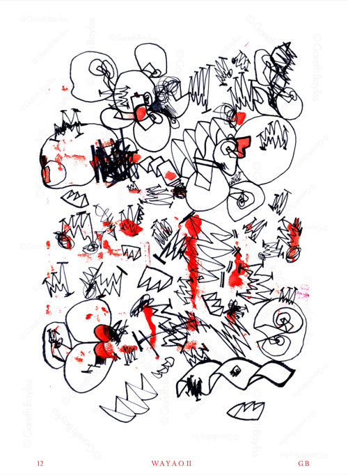 2012. What Are You Afraid Of II. Drawing/Ink on Paper. G.B.