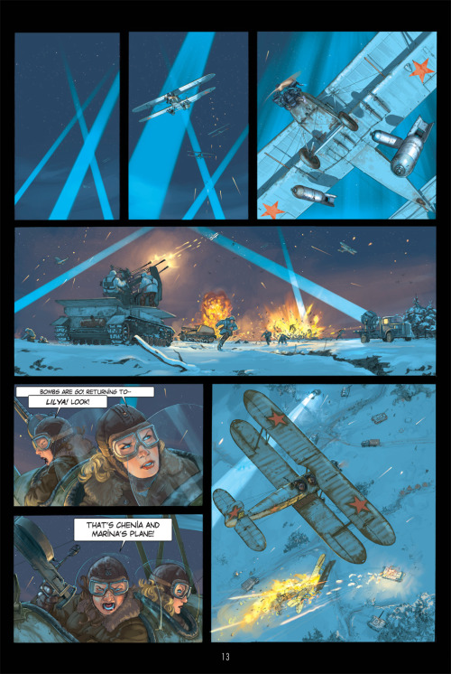 BOMBS AWAY! The Grand Duke graphic novel, about aerial warfare on the Eastern Front during WWII, hits comic shops Nov. 21.