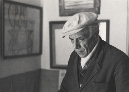 Georges Braque in His Home in Paris. Photo by Henri Cartier-Bresson (French, 1908–2004), 1944