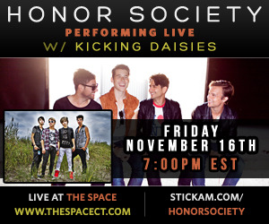 Honor Society LIVE streaming Performance with Kicking Daisies! Check it out- Honor Society will be Streaming a free LIVE performance on Stickam this Friday from The Space in Hamden, CT!  They'll be playing music from their new EP 'Serendipity' along with your favorite songs and special covers.  Not only that, the LIVE broadcast will also include Kicking Daisies!  You're not going to want to miss this! http://www.stickam.com/honorsociety